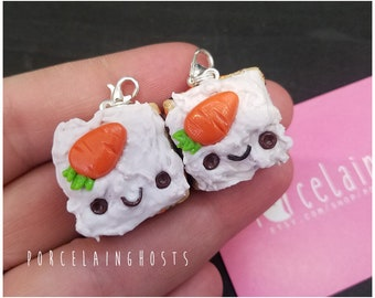 Carrot Cake Handmade Polymer Clay Zipper Charm Planner Charm Easter Food Charm Miniature Food Realistic Charm Food Lover Gifts For Her