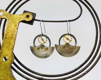 Upcycled Watch Part Earrings