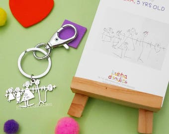 Personalized Keychain using Kids' Drawings