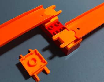 Hot Wheels Duplo Compatible Toy Car Track Adapter Connector (Set of 3) Custom