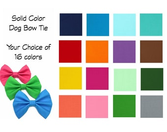 Dog Bow Tie / Custom Dog Bow Tie / Dog Bowtie / Dog Collar Accessory / Bow Tie for Dog / Custom Dog Bow
