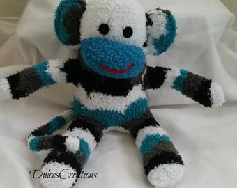 Drake the sock monkey ready to ship