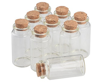 50units 25ml Glass Bottles With Cork Small Transparent Clear Mini Empty Glass Vials Jars Gift Pack For Wedding Holiday Bottles