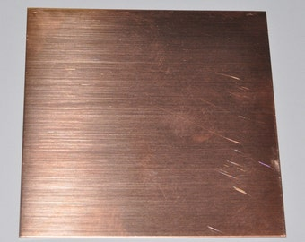 Copper Sheet Bare Solid Copper Your Choice of 24, 26 or 28 Gauge in 6x6 or 6x12 inches