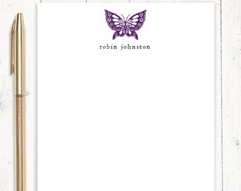 personalized notePAD - BUTTERFLY - stationery - stationary - letter writing paper - cute notepad