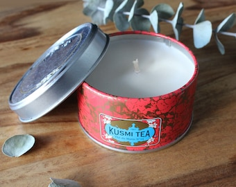 Kusmi tea candle // Russian Morning No.24 // Parisian // travel candle //  small size  // low scent