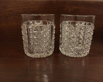 Vintage Pressed Glass Inserts for Pickle Casters