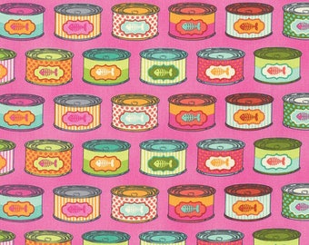Tula Pink - Tabby Road - Cat Snacks - Marmalade Skies (PWTP094.MARMA) - 1/2 Yard++