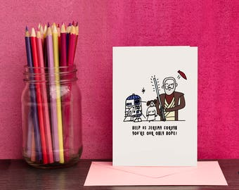 Corbyn Greetings Card - Jeremy Corbyn -A6 Card With A6 Envelope