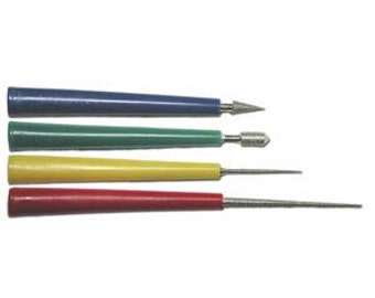 DIAMOND BEAD REAMER, Four Piece Set, Beadsmith Diamond Coated Hole Reamers, For Pearls and Glass Beads