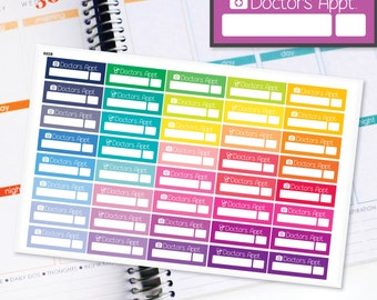 Planner Stickers Erin Condren Life Planner (Eclp) - 40 Doctors Appointment Health stickers (#6028)