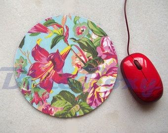 Hibiscus Flower Mouse pad, Office Mousepad, Computer Mouse Pad