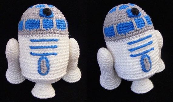 Amigurumi Tuto : Crochet pattern droid r d amigurumi pattern from oleksired on