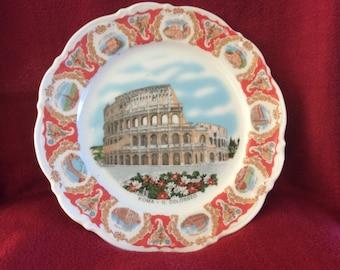 Mitterteich Bavaria Roma  IL Colosseo Plate 245mm diameter