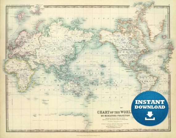 Digital old world map printable download vintage world map gumiabroncs Gallery