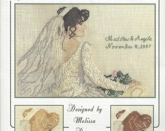 """Clearance - """"The Bride - Angela"""" Counted Cross Stitch Chart by Pegasus Originals"""