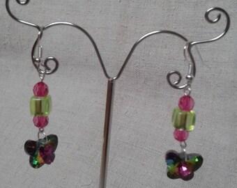 """Earrings """"multicolor Butterfly"""""""