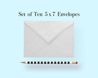 5x7 White Cotton Envelopes, A7 White Cotton Envelopes, White Cotton Envelopes 5 x 7, White Cotton Envelopes 5x7, White Cotton Envelopes A7
