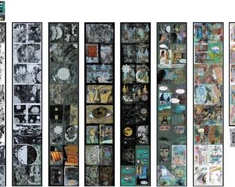 W-LB-G-B-B-G-LB-W |  Artist's Book - Travel Sketchbook - Road Comics - 1st Edition