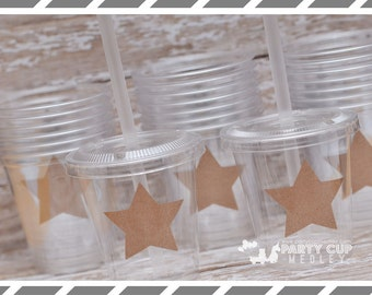 Twinkle Little Star themed Birthday Party, Set of 8 or 12 You Choose Party Cups or Favor Cups