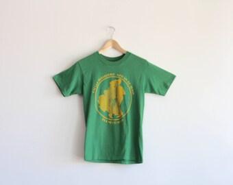BALLET - retro green tee