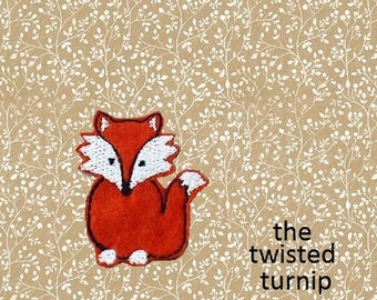 5x7 Hoop Cute Realistic Woodland Fox Felty Feltie Felt Embroidery Design Instant Digital Download The Twisted Turnip