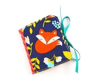 Cute Sleepy Fox Scrappy Patchwork Needle Book