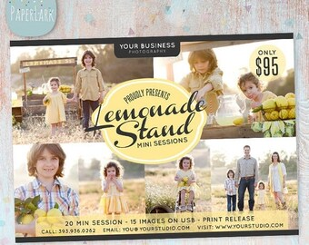 ON SALE Lemonade Photography Marketing Board - Mini Sessions - IA001 - Instant Download