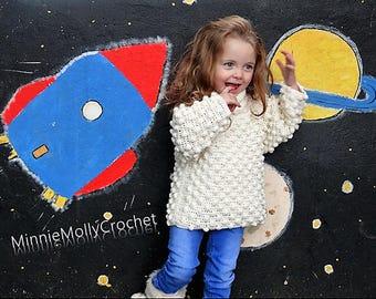 GIRLS CROCHET PATTERN Bobble Girl (sizes 1-7 years)