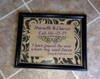 Burlap Wedding Gift