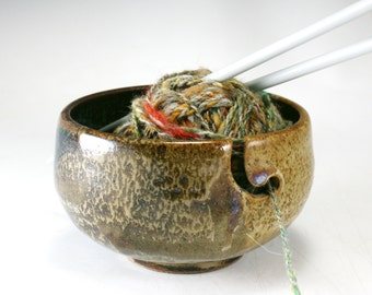 Pottery Knitting Bowl  Yarn Bowl Crochet Bowl