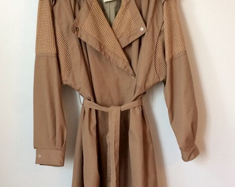 Brown Women's Spring Trench Coat Size L