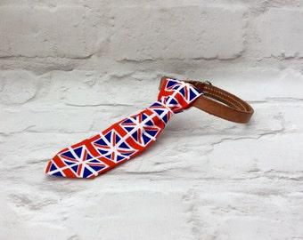 Dog Necktie , Dog Tie, Pet Accessories, Union Jack Dog Tie, Pet Collar Tie