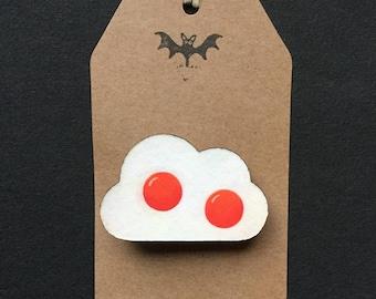 Egg Cloud Brooch