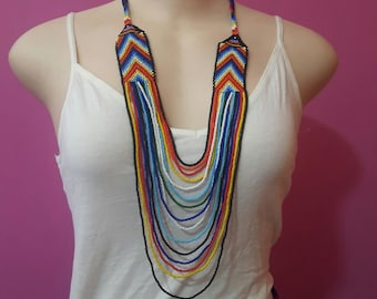 maasai necklace / beaded necklace / colorful necklace