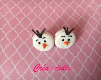 Olaf macarons earrings