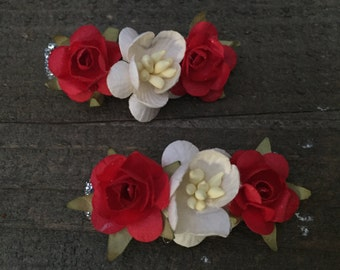 Baby Hair Clips, Flower Clips,  Cute Baby Hair Clips, Girl Hair Clips, Baby Hair Accessories