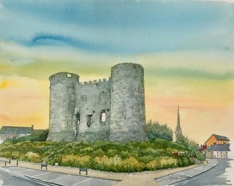Carlow Castle, Original Painting by Roisin O'Shea