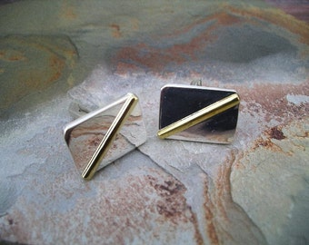 Sterling Silver and Gold Filled Cuff Links RF252
