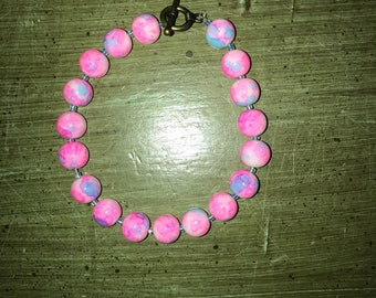Cotton Candy Marble Bracelet