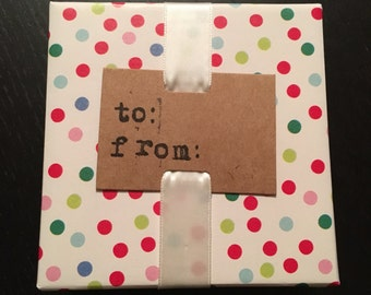 Hand Stamped Gift Tag