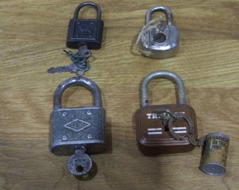 Working Padlock // Vintage French working Padlock // Padlock // Old padlock // vintage padlock //