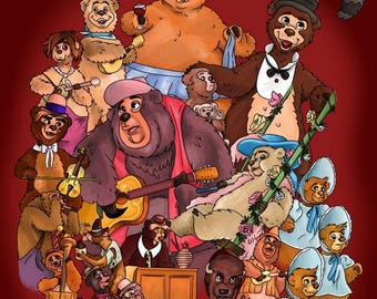Country Bear Jamboree BROWN BACKGROUND 8x10 Print