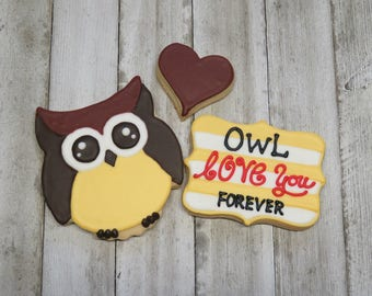 Owl Love You Forever Buttercream Cookie Boxed Set