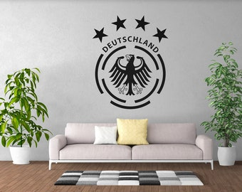 Germany 4 Star Crest - Soccer World Cup 2018 - Wall Decal - Wall Sticker