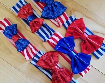 6pk Patriotic Headbands
