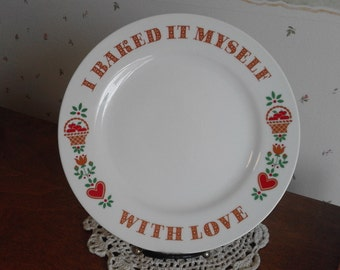 Vintage China Baked With Love 1982 Avon Plate