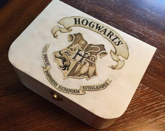 Harry Potter Hogwarts Wooden Keepsake Jewelry Box