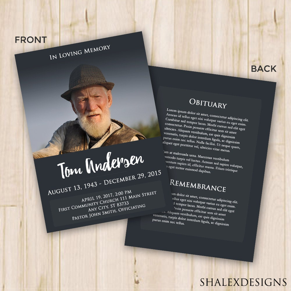 🔎zoom  Funeral Program Template Free