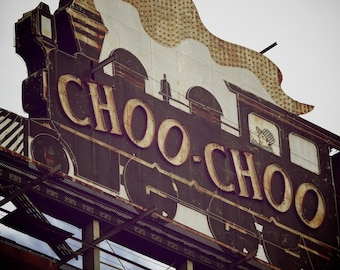 Choo Choo Train Print, Train Decor, Boys Train Art